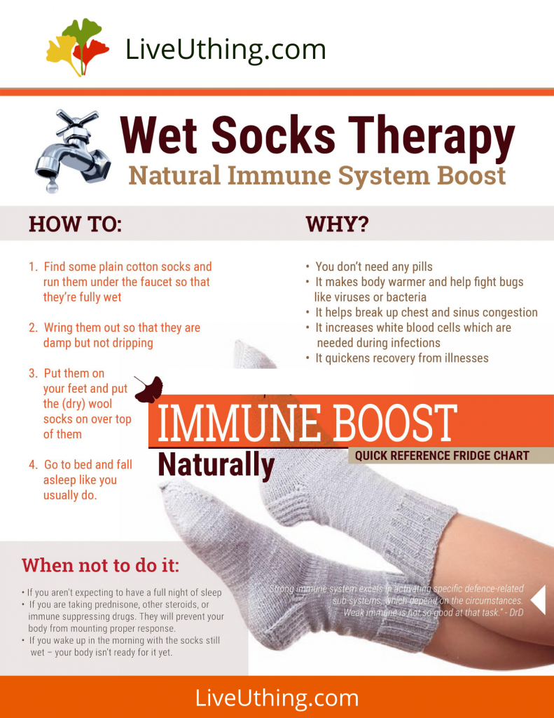 Wet socks therapy - chart