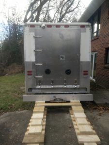 Our step van gets a new door